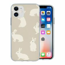 For Apple iPhone 11 Silicone Case Bunny Rabbit Pattern - S39