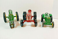 Vintage ERTL John Deere & International Tractors Diecast Metal (Made in USA)