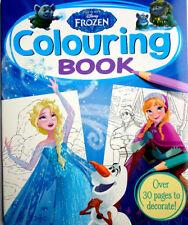 DISNEY FROZEN Colouring Book 30 PAGES Art NEW Girls Elsa Anna Olaf Trolls