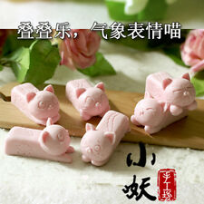 Flexible Silicone Soap Molds Cats Craft Handmade Candle Resin Mould 6 Cavity