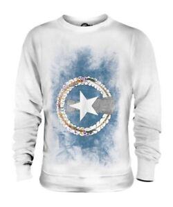 Marianas Del Norte Islas Descolorido Bandera Unisex Suéter Camisa Regalo