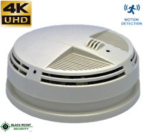 New 4K Resolution Night Vision Hidden Spy Camera Wired Side View Smoke Detector