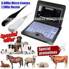 CE ecografo veterinario con 2 probes.7.5Mhz rettale&5,0 Mhz Micro convessa Probe