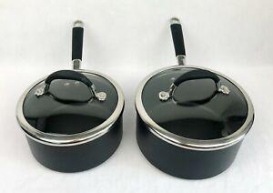 Lot of 2 Circulon Commercial 2 QT/1.6L & 3 QT/2.3L Hard-Anodized Nonstick Pots