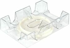 Revolving Dual Tray Holder For 2 Decks Playing Card Clear Plastic Canasta