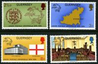 GUERNSEY 1974 UPU CENTENARY SET OF ALL 4 COMMEMORATIVE STAMPS MNH (k)