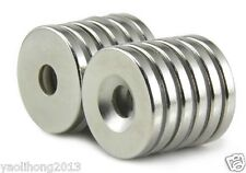 Lots 20pcs Small Disc Neodymium Magnets 20mm x 3mm Hole 5mm Rare Earth Neo N50