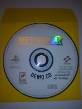 Metal Gear Solid Demo CD - Playstation 1 PS1 PS2 Rare Game Tested - Konami