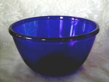 """Collectible Large 9 1/4"""" Cobalt Blue Glass Serving Bowl - Made in France - New"""