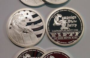 2009 Ron Paul – 1 oz .999 Silver Proof - AOCS Approved Provident Metals - RARE