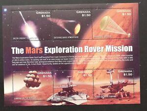 GRENADA-Cosmonautics-The Mars Exploration-1 M/Sh. MNH**,CW 482