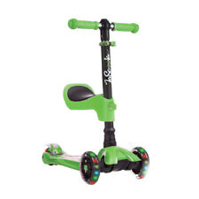 LaScoota Kids Kick Scooter with Light Up Wheels, Age 2 to 12 Year Old (Open Box)