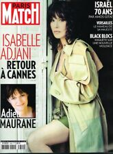 A- Paris Match N°3600 Isabelle Adjani Adieu Maurane Black Blocs