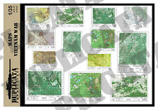 Diorama/Model Accessory - 1/35 Maps - Vietnam War