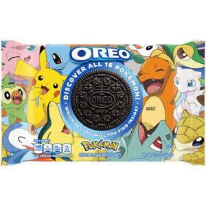 Oreo Pokemon Themed Chocolate Sandwich Cookies, Limited Edition Factory sealed