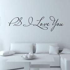 I Love You Amovible Art Vinyle Mural Maison Décoration Chambre Enfant