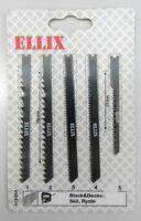 ELLIX 113014 set 5 lame x seghetto alternativo Black&Decker Skil Ryobi a legno