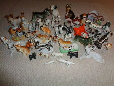 Various dog figurines styles color sizes husky scottie dalmation 40 pieces Japan