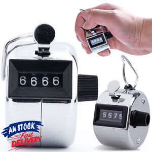4 Digit Tally Counter Hand Held High Quality Number Clicker Manual Sale