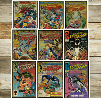 Lot of 9 Amazon Spiderman Bronze Includes #239 See Pics & List *GD to FN* Cond