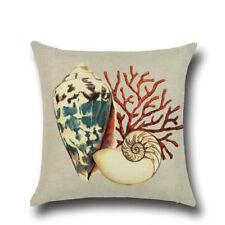 Ocean Style Cushion Cover Cotton Sofa Bedroom Coffee Shop Home Decor 45cm*45cm