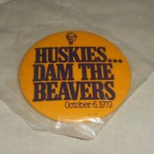 Kfc Huskies Dam The Beavers October 6 1979 Pin Button