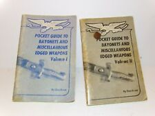 Dan Ernst Pocket Guide To Bayonets & Misc. Edged Weapons VOL 1 & 2 Books