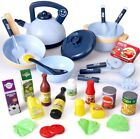 Play Kitchen Toys 28 Pcs Cooking Set With Play Food Cookware For Kids Girls Boys