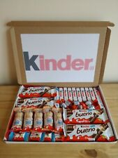 LARGE KINDER CHOCOLATE GIFT SELECTION  BOX HAMPER PERSONALISED FREE 1ST CLASS