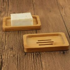 2x Soap Dish Wood Soap Holders Dry Easy Cleaning Soap Box Stop Mushy Home Modern