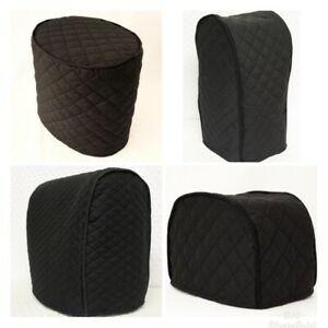Black Quilted Double Faced Cotton Appliance Cover
