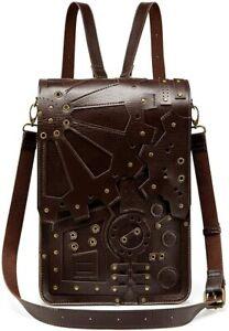 Steampunk Gothic Gear Backpack Handbag Single Shoulder Bag for Pad Punk Retro