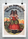 Wonderful Two Headed Girl French Sideshow Poster Giclee Print on Canvas or Paper