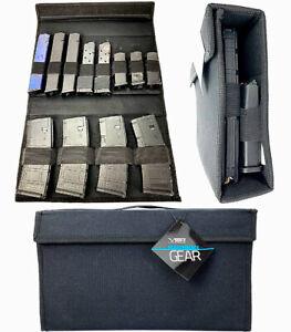 Magazine Pouch Storage Range Bag Rifle Pistol Mag Gun Clip Carry Holder Shooting