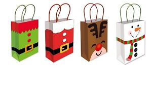 Christmas Paper Party Bags Sweets Cake Food Xmas Eve Birthday Gift Loot Gift Bag