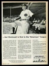 1949 Cincinnati Reds Bucky Walters game photo CGE vintage print ad