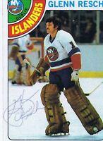 Glenn Chico Resch 1978 Topps Autograph #105 Islanders
