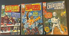 lot 3 Marvel  WHERE CREATURES ROAM #1 #2 & #6