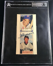 TED WILLIAMS 1952 TOPPS CARD DIDNT EXIST SIGNED AUTOGRAPHED AUTO BECKETT BAS