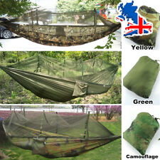 Outdoor Garden Jungle Camping Tent Hammock With Mosquito Net Military Bushcraft
