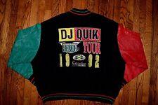 1992 DJ QUIK cross colours varsity crew jacket vtg 90s hip hop shirt rap colors