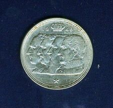 """BELGIUM  1948  100 FRANCS SILVER COIN, 'BELGIE""""  ALMOST UNCIRCULATED"""