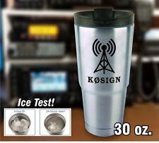 Amateur Radio Callsign & Antenna Insulated Tumbler - Polar Camel - YETI style