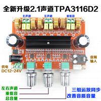 Assembling HiFi Stereo TPA3116D2 Power Amplifier Board 2.1 channel 2*80W+100W