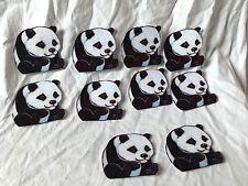 Panda Bear Felt Figures Flannel Board Stories Precut 10 Pc Black White