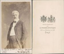 La Presse artistique, Paris, Homme nommé Legonézec, circa 1865 CDV vintage album