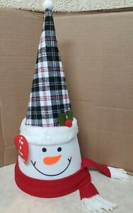 Holiday Style Snowman Head Christmas Tree Topper