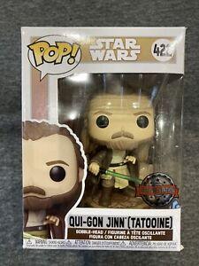 Funko Pop Star Wars #422 Qui-Gon Jinn (Tatooine)