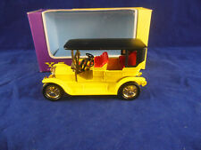 Ccarce G Box Matchbox Yesteryear Y5 1907 Peugeot in Yellow, Black roof Issue 2