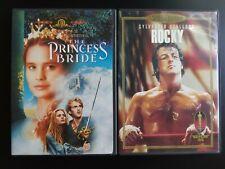 The Princess Bride 1987 Dvd Widescreen + Fullscreen & Rocky Special Ed Lot 80s